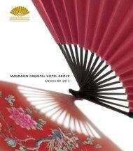MANDARIN ORIENTAL HOTEL GROUP ANNUAIRE 2012