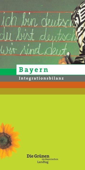 Integrationsbilanz Bayern - Sepp Dürr