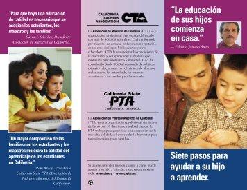 *NEW Final Latino Brochure - The California State PTA