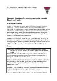 SEN reforms Natspec response to call for evidence final