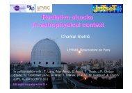 Radiative shocks in astrophysical context - Observatoire de Paris