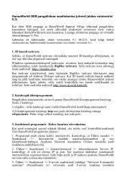Juhend versioonile 6.3 - HansaRaama