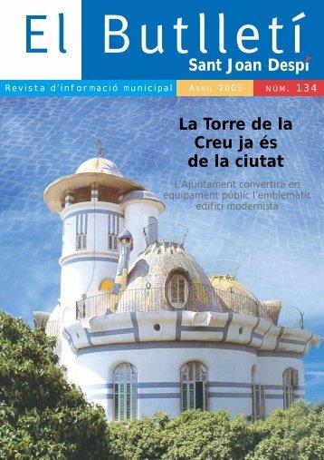 Sant Joan Despí La Torre de la Creu ja és de la ciutat