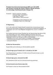 Protokoll der Generalversammlung 2005 vom 28.5.2005 des ...