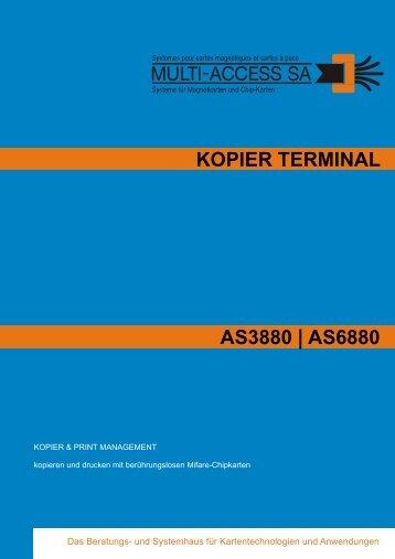 KOPIER TERMINAL AS3880 | AS6880 - Multi-Access AG