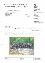 Dankschreiben der Deutsche Gesellschaft für Muskelkranke ... - WätaS