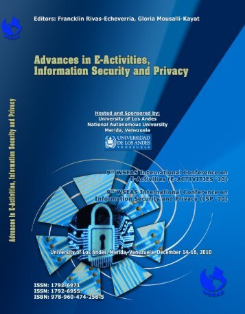 ADVANCES in E-ACTIVITIES, INFORMATION SECURITY ... - WSEAS