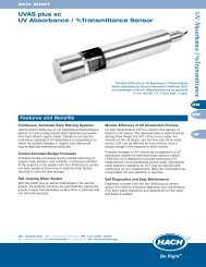 UVAS plus sc UV Absorbance/% Transmittance Sensor Data ... - Hach