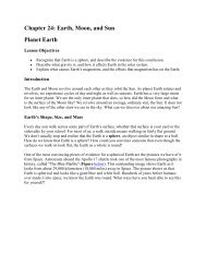 Chapter 24: Earth, Moon, and Sun Planet Earth - riverbendschools.org
