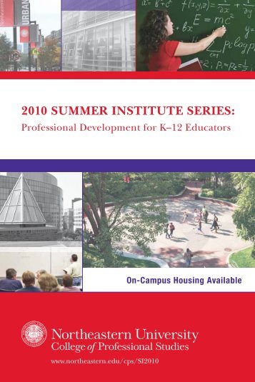 2010 Summer InStItute SerIeS: - Northeastern University College of ...