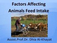 Factors affecting Animal FI - UMK CARNIVORES 3