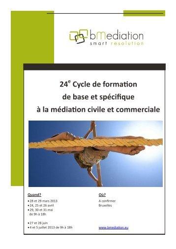 24 Cycle de formation de base et spécifique à la médiation ... - BECI