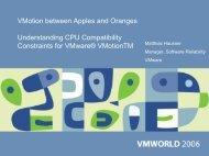 VMotion between Apples and Oranges Understanding CPU - VMware