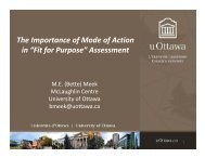 The Importance of Mode of Action in - Alliance for Risk Assessment