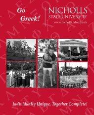 Greek Book - Nicholls State University