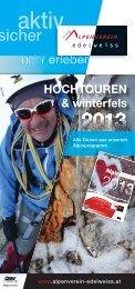Broschüre HOCHTOURENwinterfels.indd - Österreichischer ...