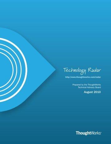 Technology Radar - ThoughtWorks.com - Fileburst