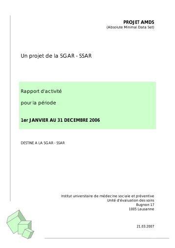 Rapport d'activité 2006 (pdf) - IUMSP