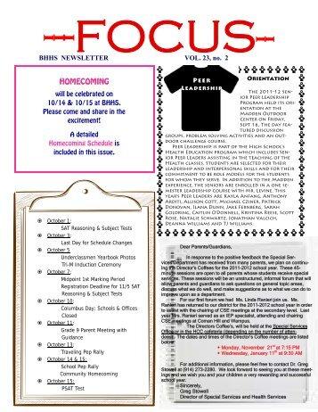 FOCUS - October 1, 2011, Vol 23, No 2.0 - Byram School District