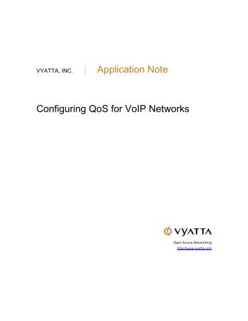 | Application Note Configuring QoS for VoIP Networks - fileserver
