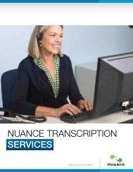 Nuance Transcription Services Brochure