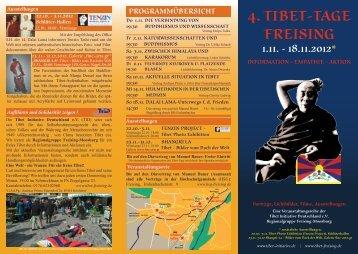 4. tibet-tage freising programmübersicht - TID Regionalgruppe ...