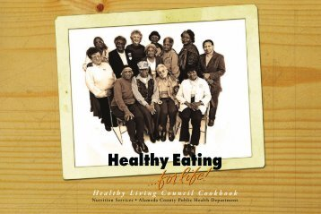 Healthy Living Council Cookbook - Healthy Living...for life!