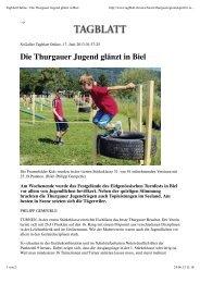 Tagblatt Online - Die Thurgauer Jugend glänzt in ... - LAR Tägerwilen