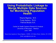 Using Probabilistic Linkage to Merge Multiple Data Sources for ...