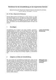 Richtlinien für die Umweltbildung an den bayerischen Schulen