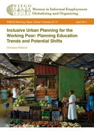 Inclusive Urban Planning for the Working Poor: Planning ... - WIEGO