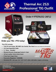 Thermal Arc 252i Professional TIG Outfit - CK Worldwide
