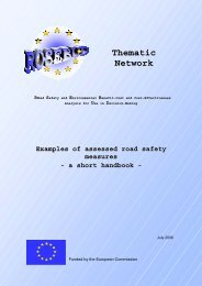 Examples of assessed road safety measures - European Commission