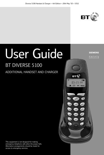 Diverse 5100 User Guide - BT.com