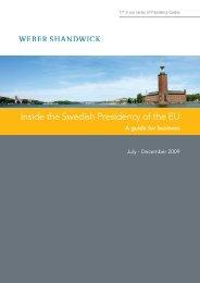 Inside the Swedish Presidency of the EU - Social Economy Europe