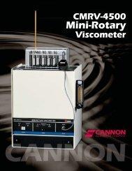 Mini-Rotary Viscometer CMRV-4500 - Cannon Instrument Company