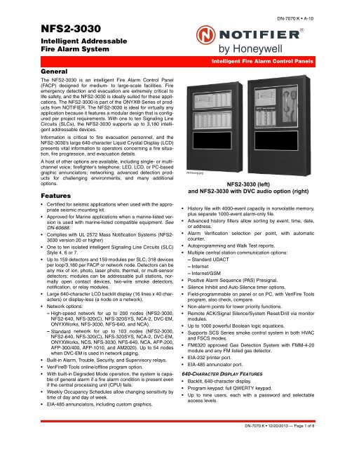 NFS2-3030 datasheet - Notifier