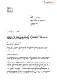 DFJP M. Christoph Blocher Conseiller fédéral Office ... - Travail.Suisse