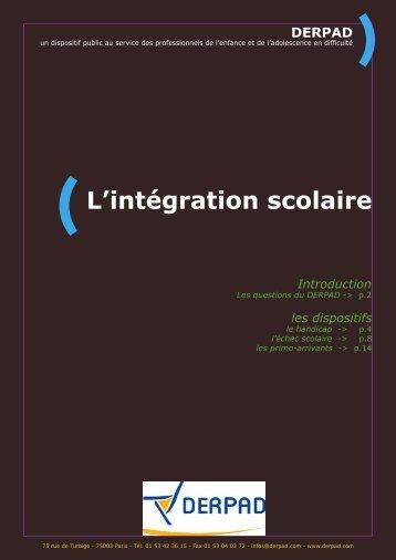 L'intégration scolaire - Derpad
