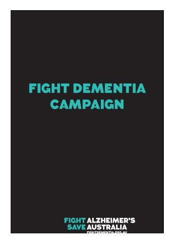 Alzheimer's Australia: Fight Dementia Action Plan
