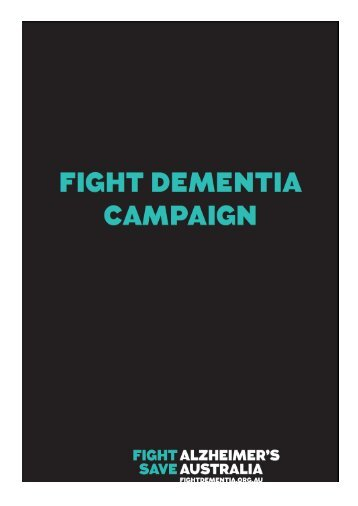 Alzheimer's Australia: Fight Dementia Action Plan