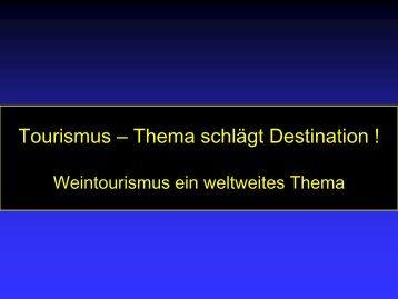 Tourismus – Thema schlägt Destination - Bayerische Landesanstalt ...