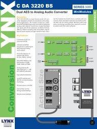 Dual AES to Analog Audio Converter - LYNX Technik AG