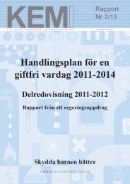 Handlingsplan för en giftfri vardag - Delredovisning 2011-2012