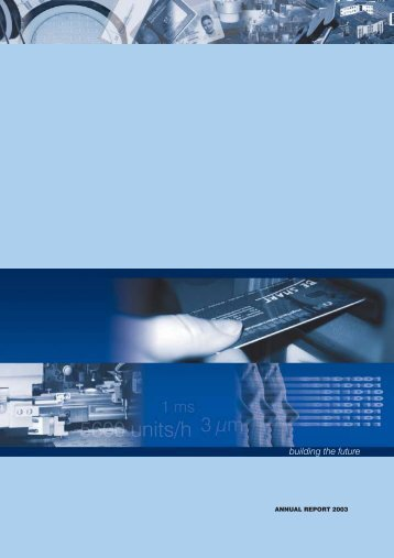 Download Annual Report 2003 - Mühlbauer Group
