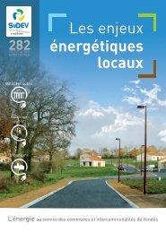 Plaquette Les enjeux énergétiques locaux - actions et ... - SyDEV