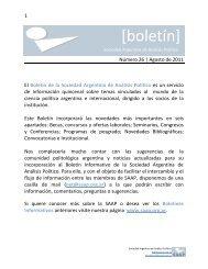 Agosto (Número 26) - Sociedad Argentina de Análisis Político, SAAP