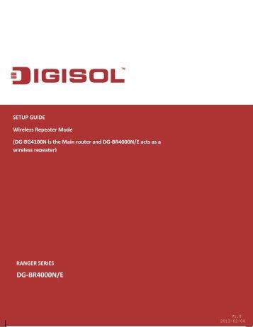 Setup Guide - Digisol.com