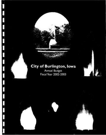 City of Burlington, Iowa Annual Budget for Fiscal Year 2002-2003