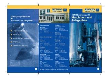 """Download """"Flyer Maschinen- und Anlagenbau"""""""